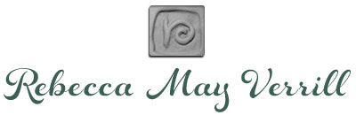 logo for Rebecca May Verrill, handmade ceramics