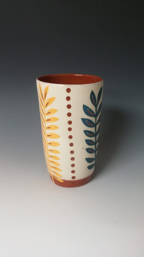 Pint Sized Cheerful Leafy Tumbler with Dots