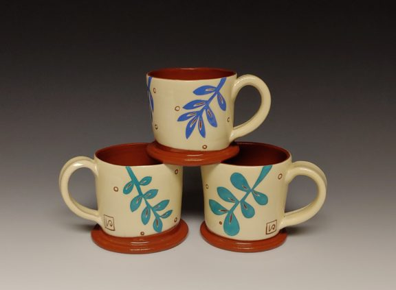 Three Cheerful Espresso Cups